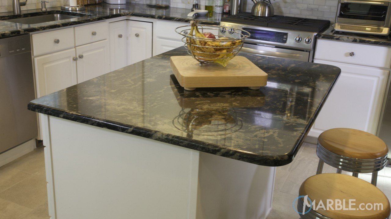 Blue Fantasy Granite Kitchen | Marble.com
