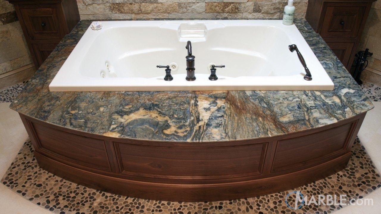 Blue Fire Granite Bathroom | Marble.com
