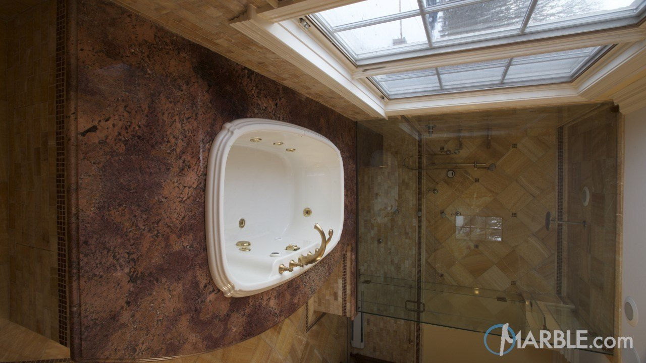 Bordeaux Granite Bathroom | Marble.com