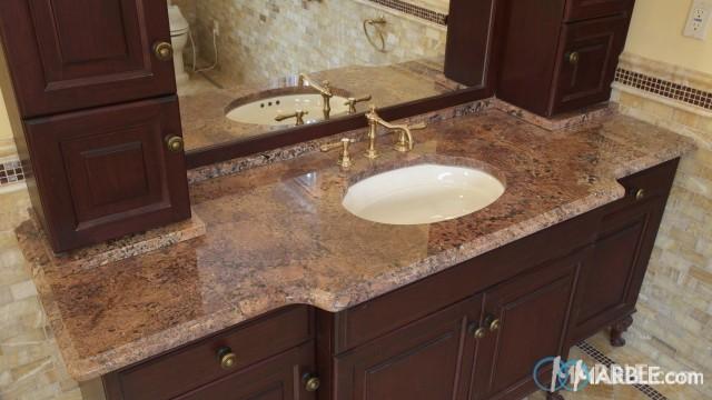 Bordeaux Granite Bathroom Vanity