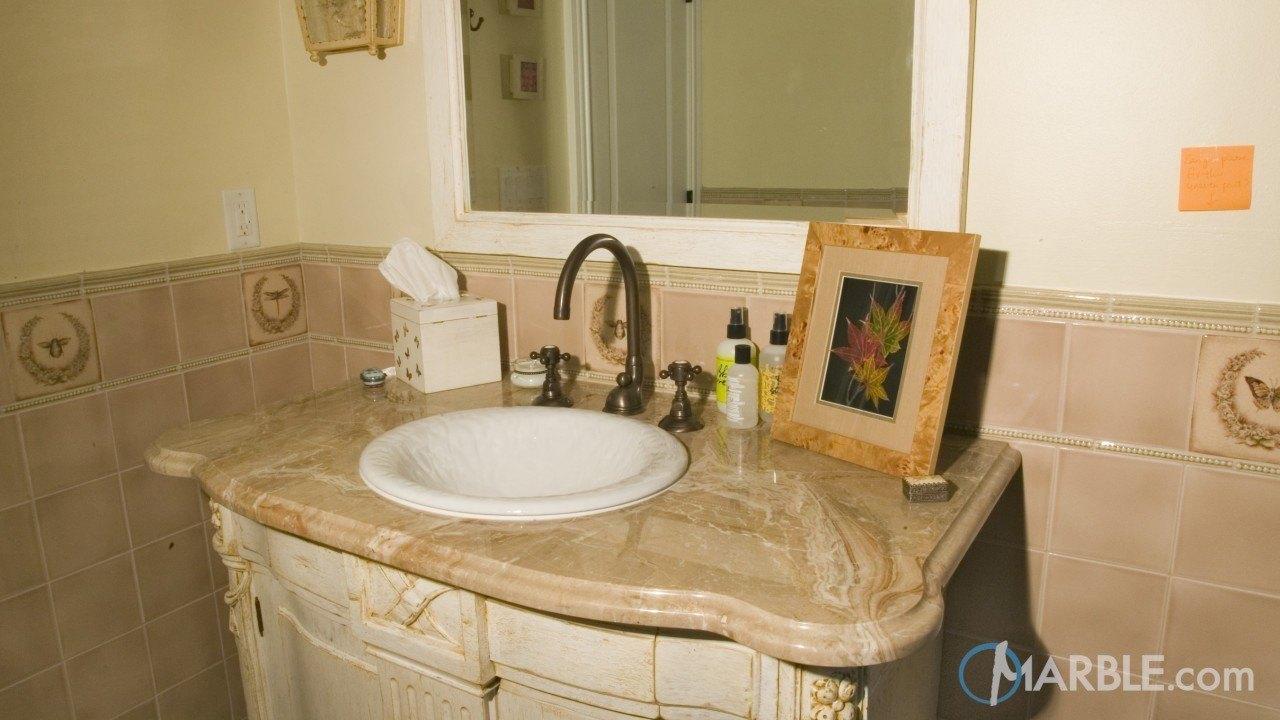 Breccia Oniciata Marble Bathroom Vanity | Marble.com