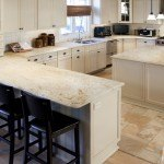 Colonial Gold Granite Large Kitchen With Island | Marble.com