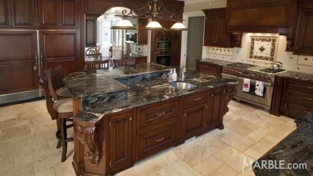 Black Granite Kitchen Countertops kitchen galleries and countertop design ideas.