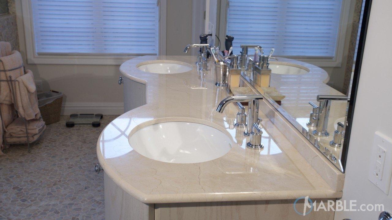Crema Marfil Marble Bathroom Vanity | Marble.com