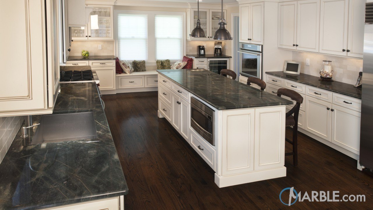 Eucalyptus Granite Counters In A Chic Kitchen | Marble.com