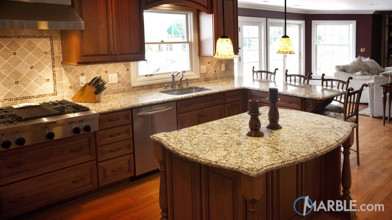 Giallo Napole Granite Kitchen | Marble.com