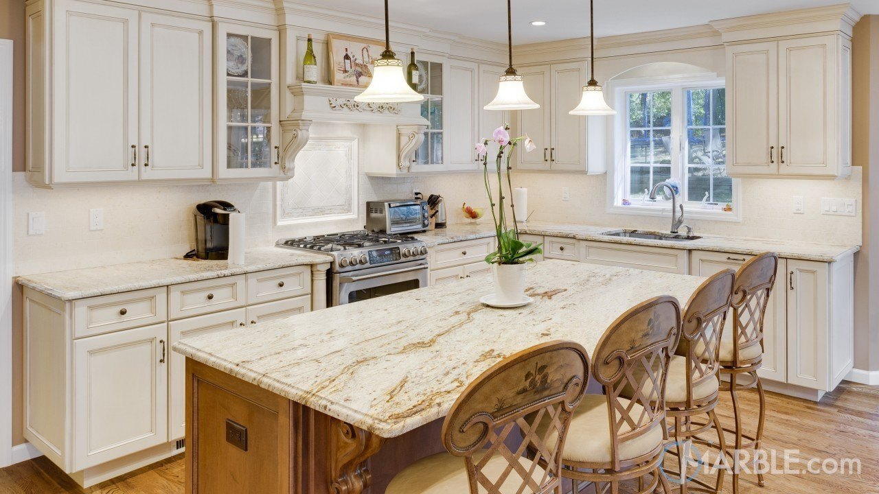 New Gold Antique Granite Main Kitchen