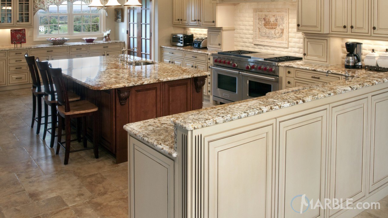 Golden Beach EX Granite Kitchen Countertops | Marble.com