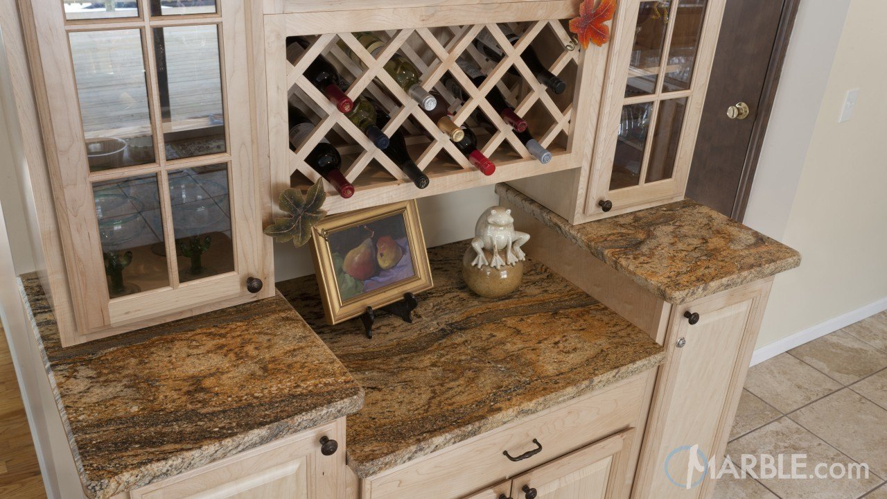 Golden Shadow Granite Wine Bar | Marble.com