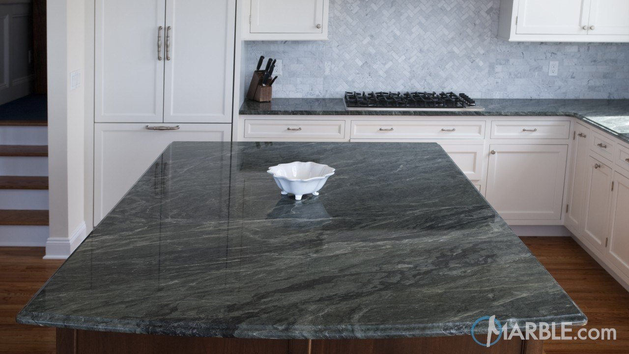 Green Ocean Granite Kitchen | Marble.com