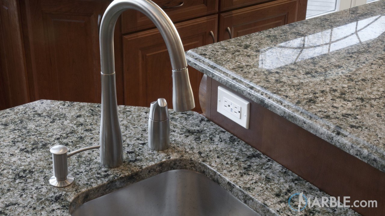 Green Ventura Granite Kitchen Countertops | Marble.com