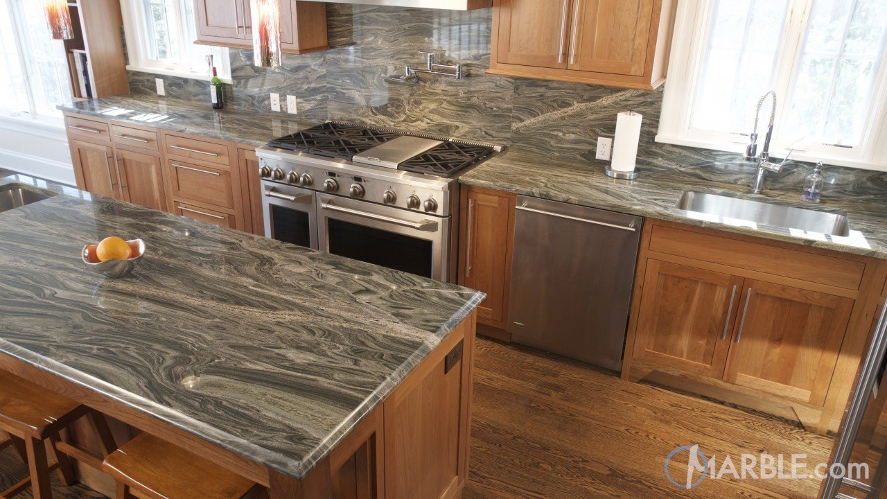 Iguana Green Granite Kitchen Countertop