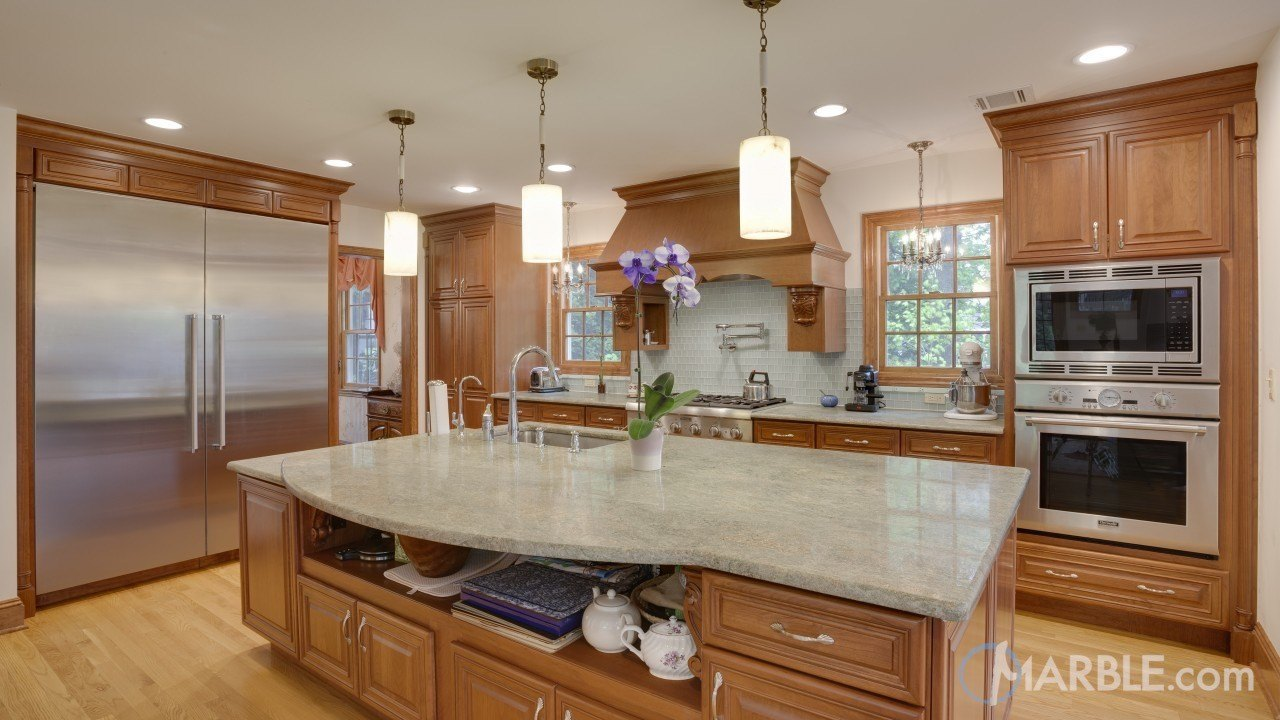 Kashmir Beige Granite Kitchen | Marble.com