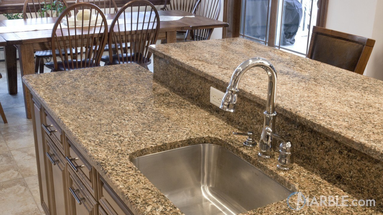 Key West Gold Granite Kitchen Countertops