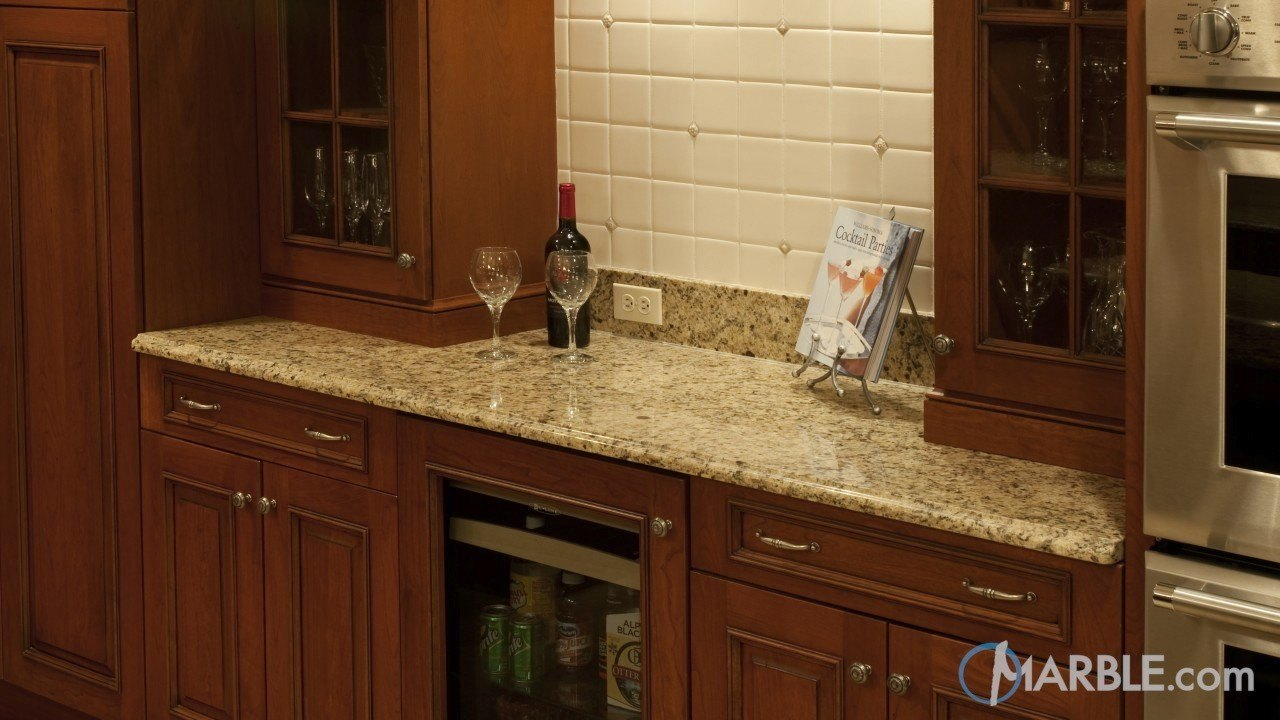 Oro Brazil Granite Kitchen Counters | Marble.com