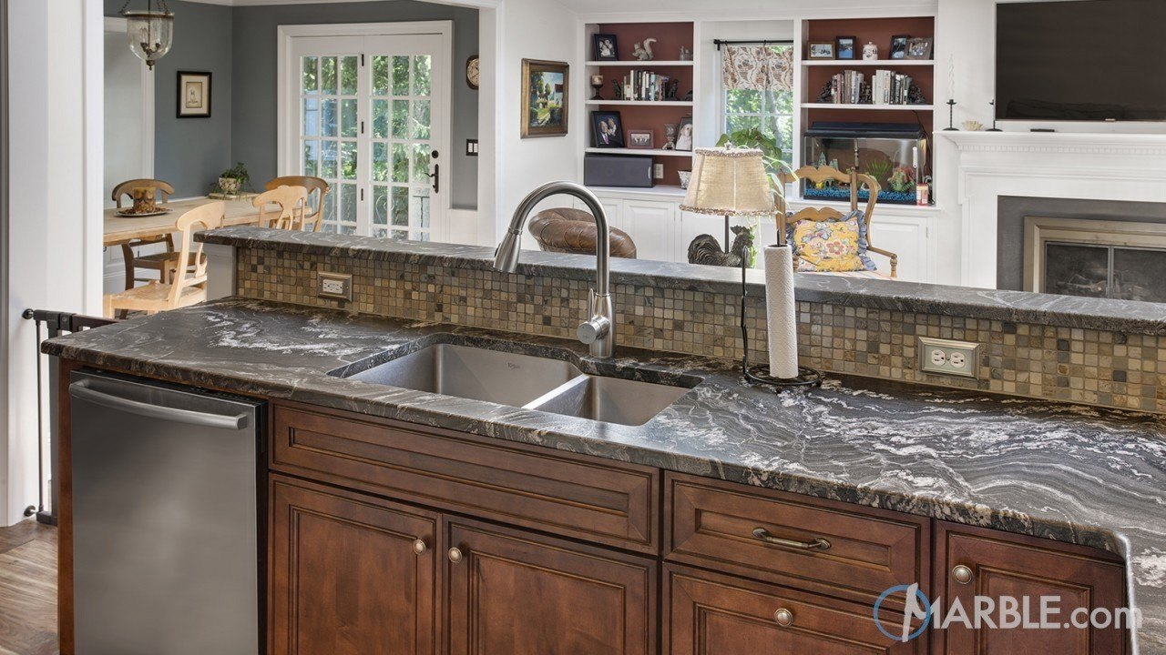 Oscuro Mist Granite Kitchen Countertop | Marble.com