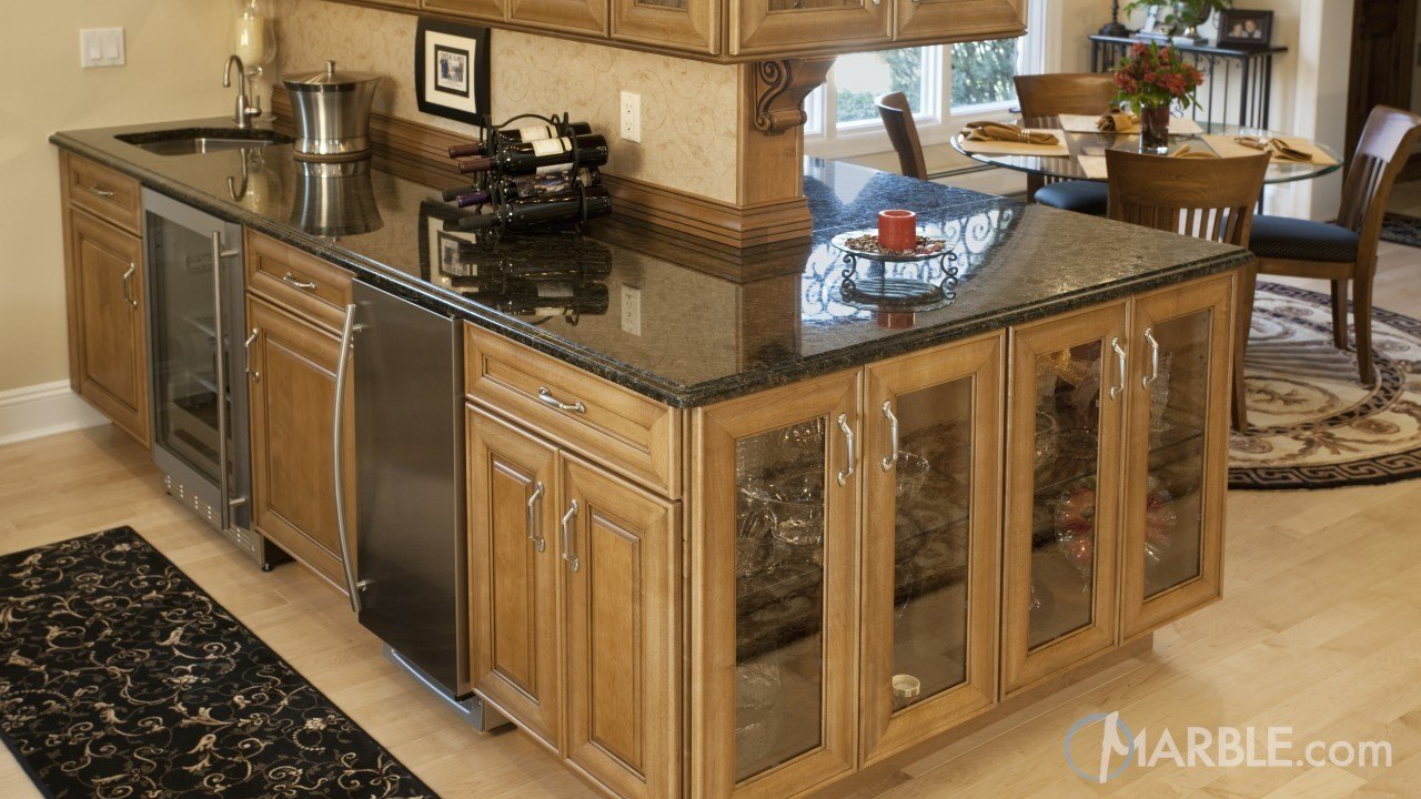 Peacock green Butterfly Granite Kitchen Countertops | Marble.com
