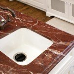 Red Ravel Granite Kitchen | Marble.com