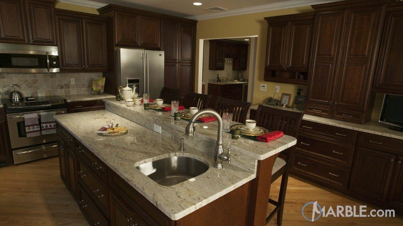 River White Granite Kitchen Countertop