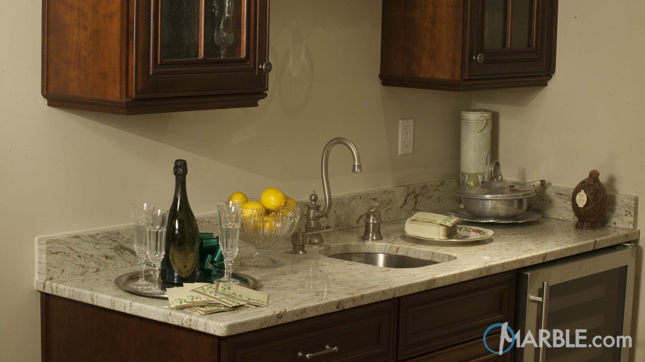 River White Granite Wine Bar Countertop