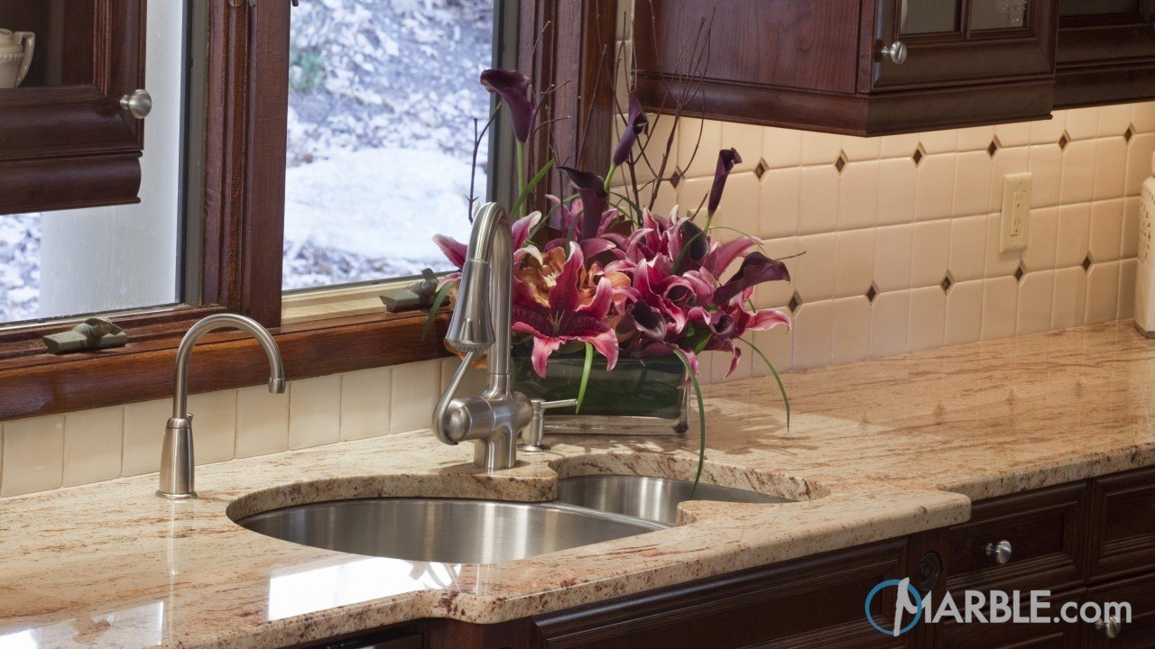 Shivakashi Pink Granite Kitchen | Marble.com