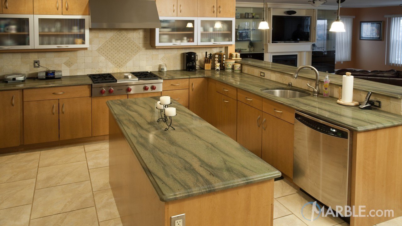 Verde Sequoia Granite Kitchen | Marble.com