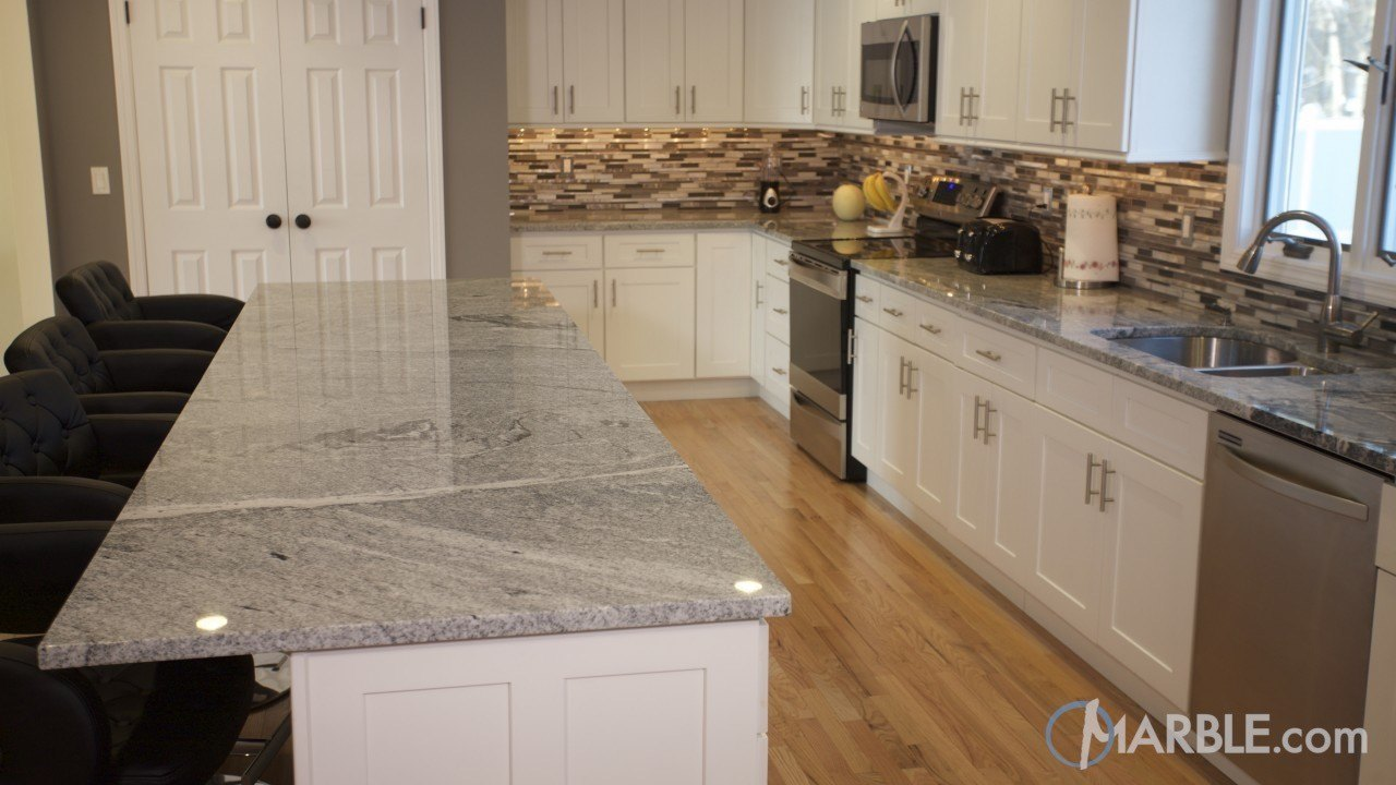 Viscont white granite kitchen countertops Kitchen design with granite countertops