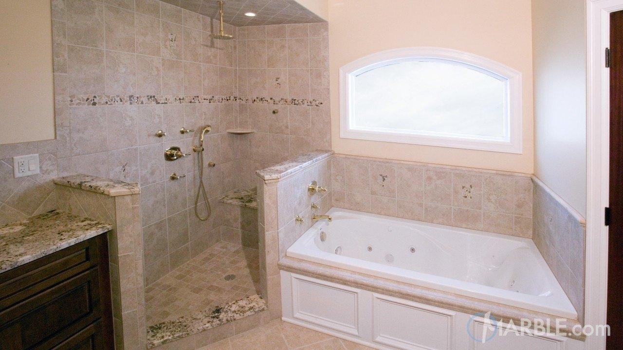 White Torroncino Granite Bathroom | Marble.com