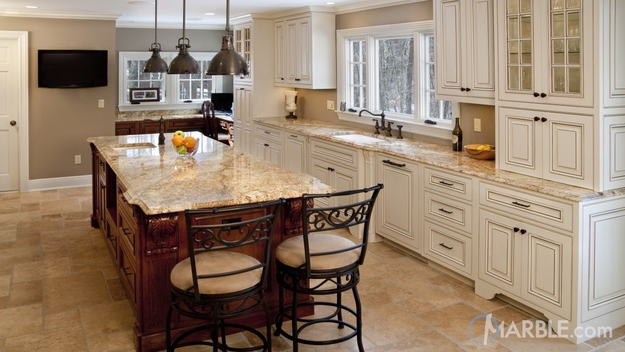 Yellow River Granite Kitchen Counters Marble