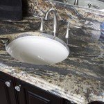 Black Thunder Bathroom Vanity Top | Marble.com