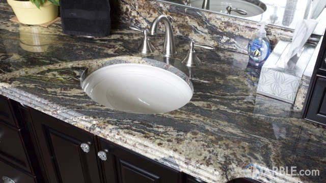 Black Thunder Bathroom Vanity Top