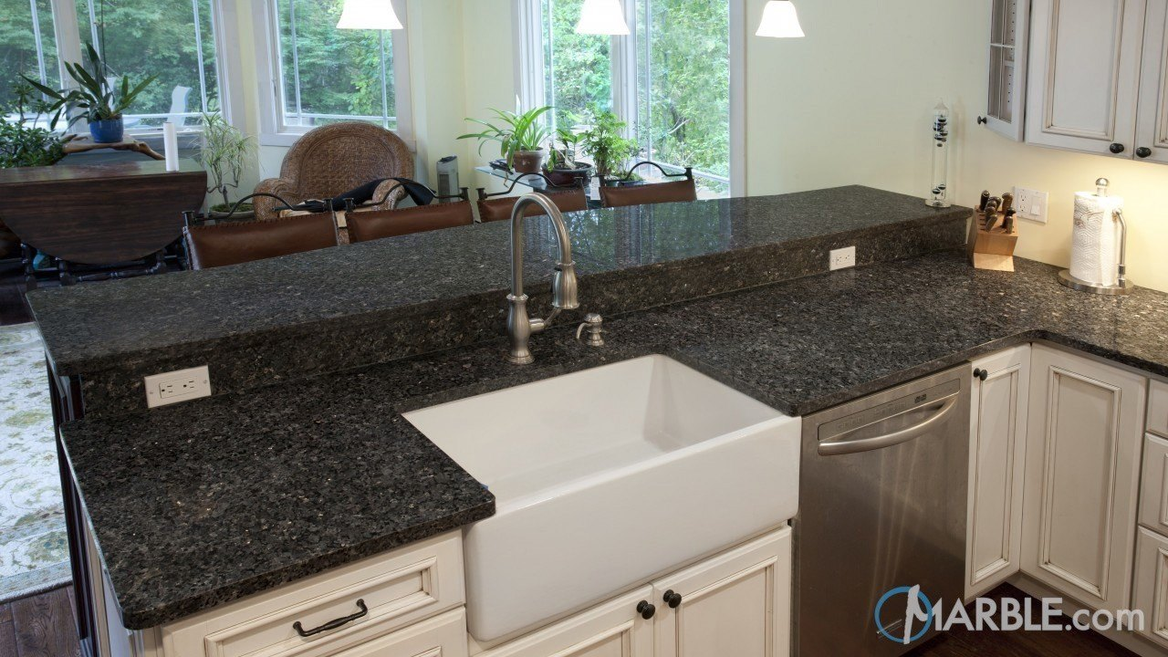 Bahia Brown Granite Kitchen | Marble.com