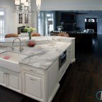 White Fantasy Marble Kitchen Countertop
