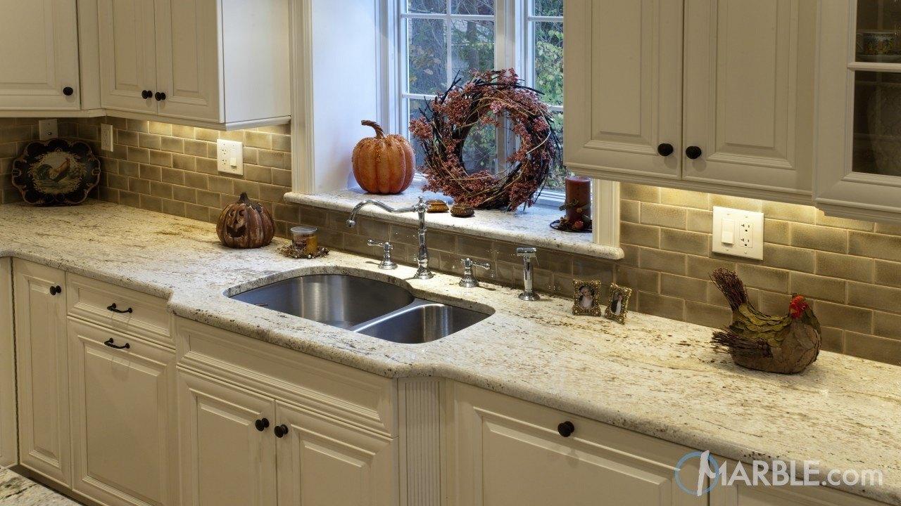 Gold Antique Granite Kitchen | Marble.com