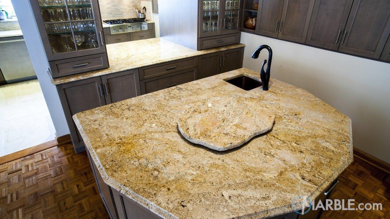 Arandis Chocolate Granite Kitchen Countertops | Marble.com