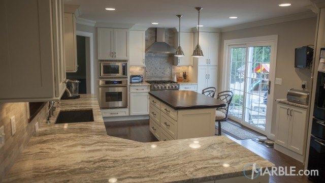 Colonial Cream Granite Kitchen Counters