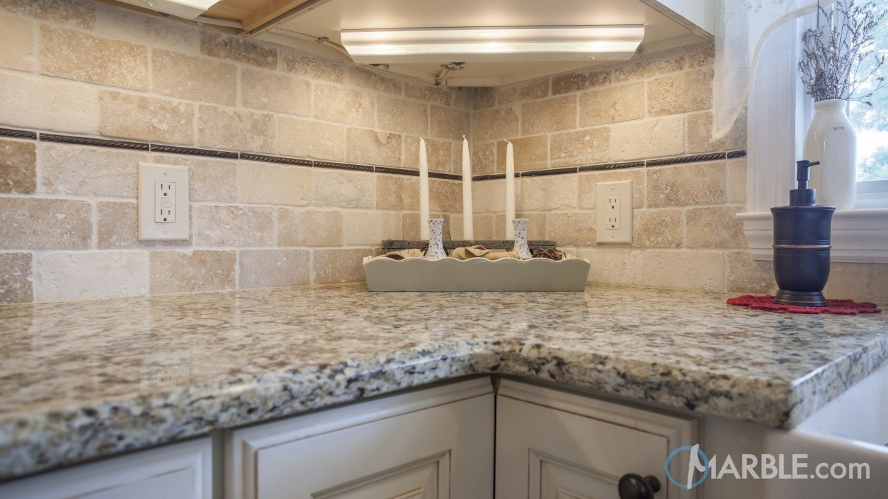 Giallo Napole Granite Kitchen Countertop | Marble.com