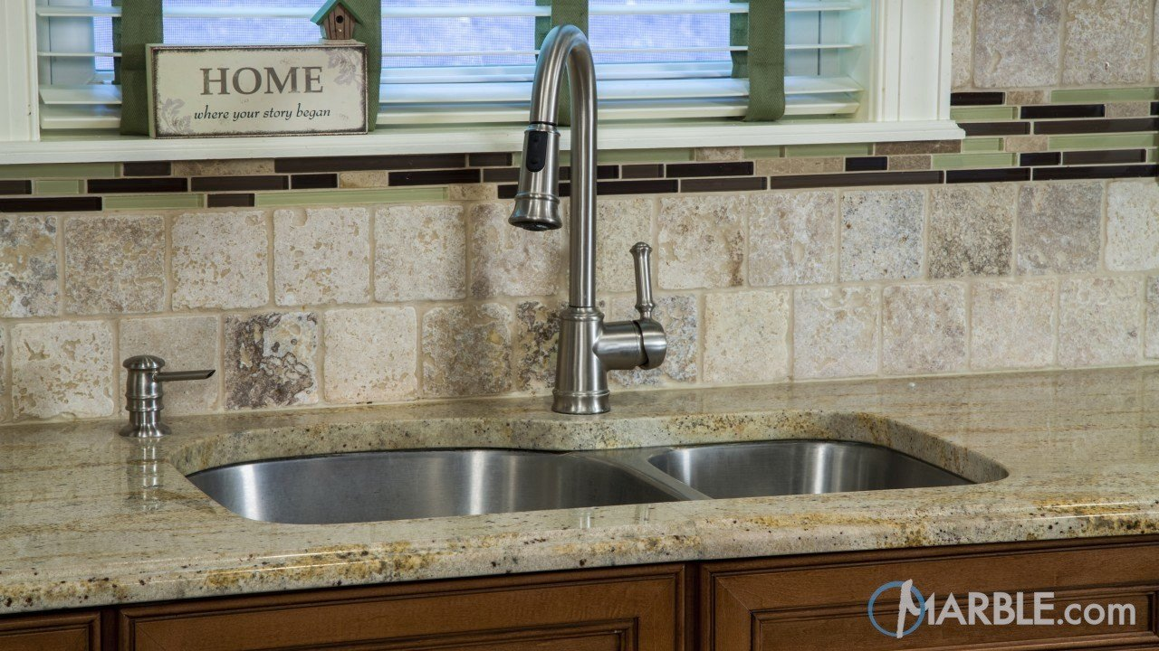 Ivory Gold Granite Kitchen Countertop | Marble.com