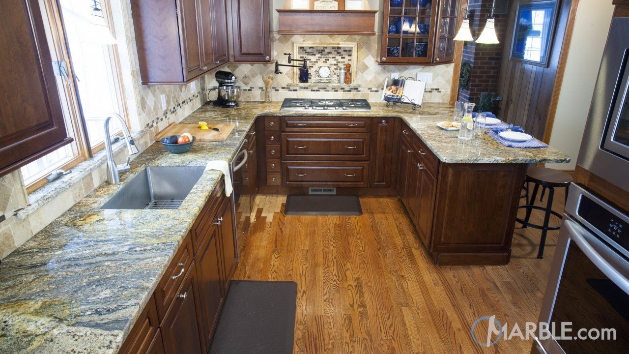 Ouro Fantastico Granite Kitchen | Marble.com