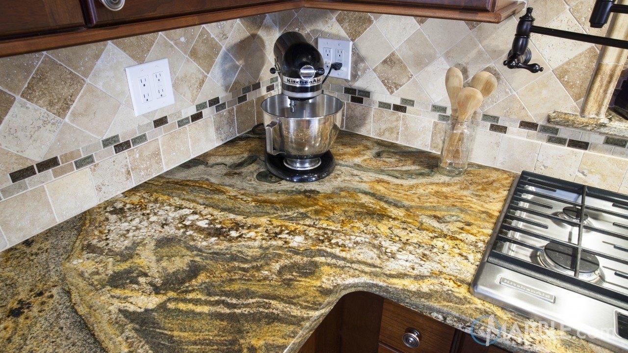 Ouro Fantastico Granite Kitchen Countertop | Marble.com