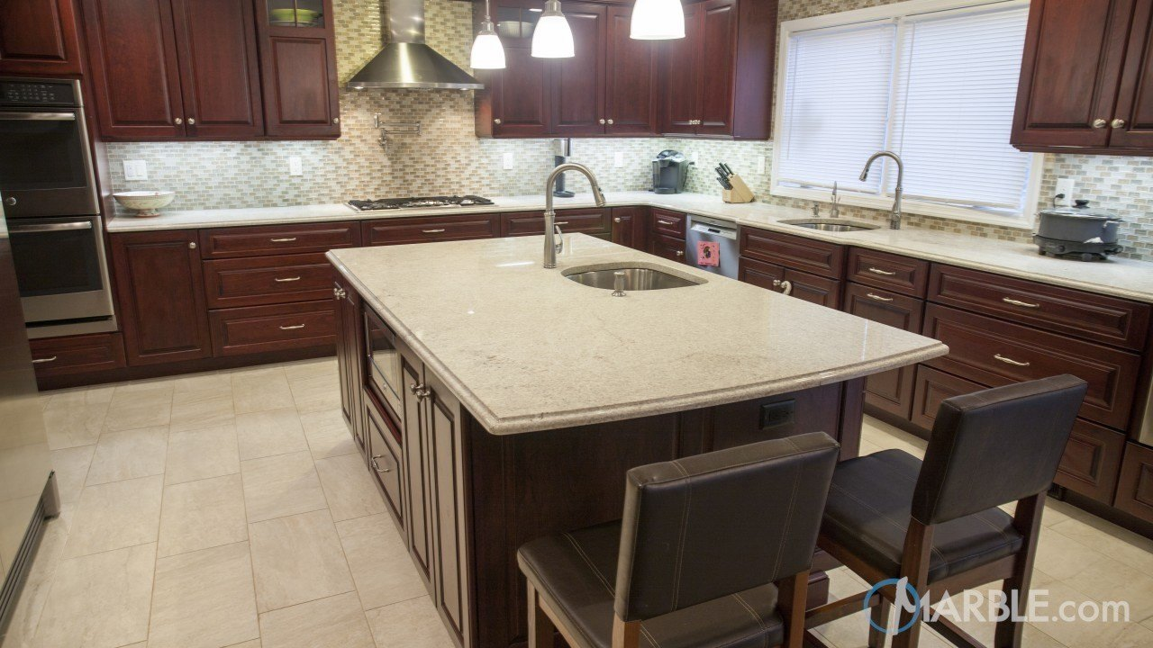 Itaunas White Granite Kitchen Countertop ...