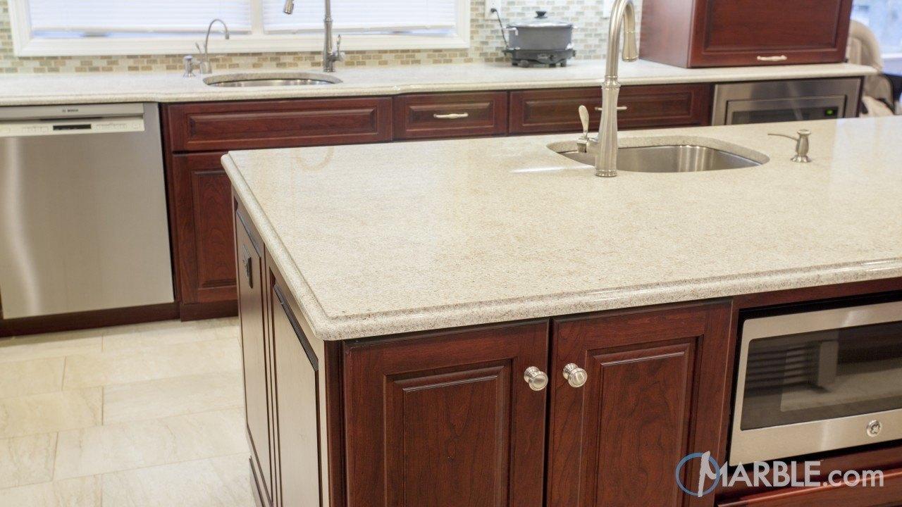 Itaunas White Granite Kitchen | Marble.com