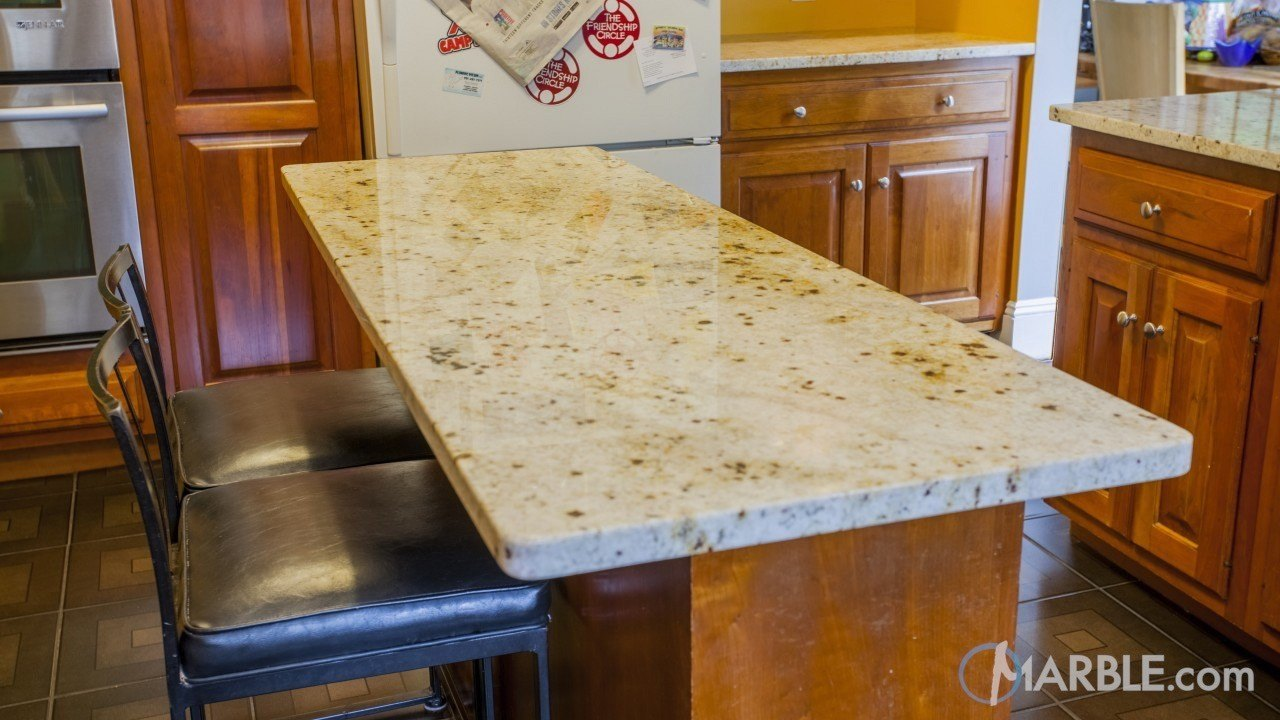 Colonial Gold Granite Kitchen Countertops | Marble.com