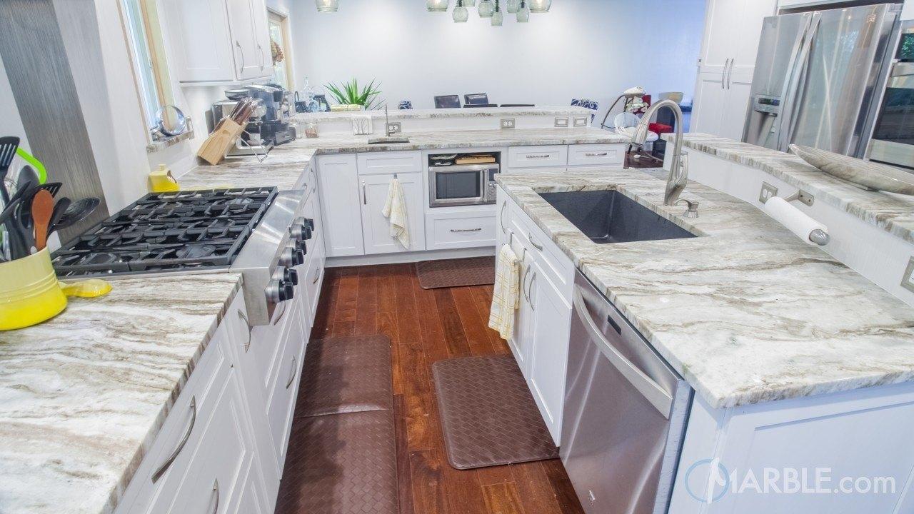 Fantasy Brown Kitchen Quartzite Modern Countertop