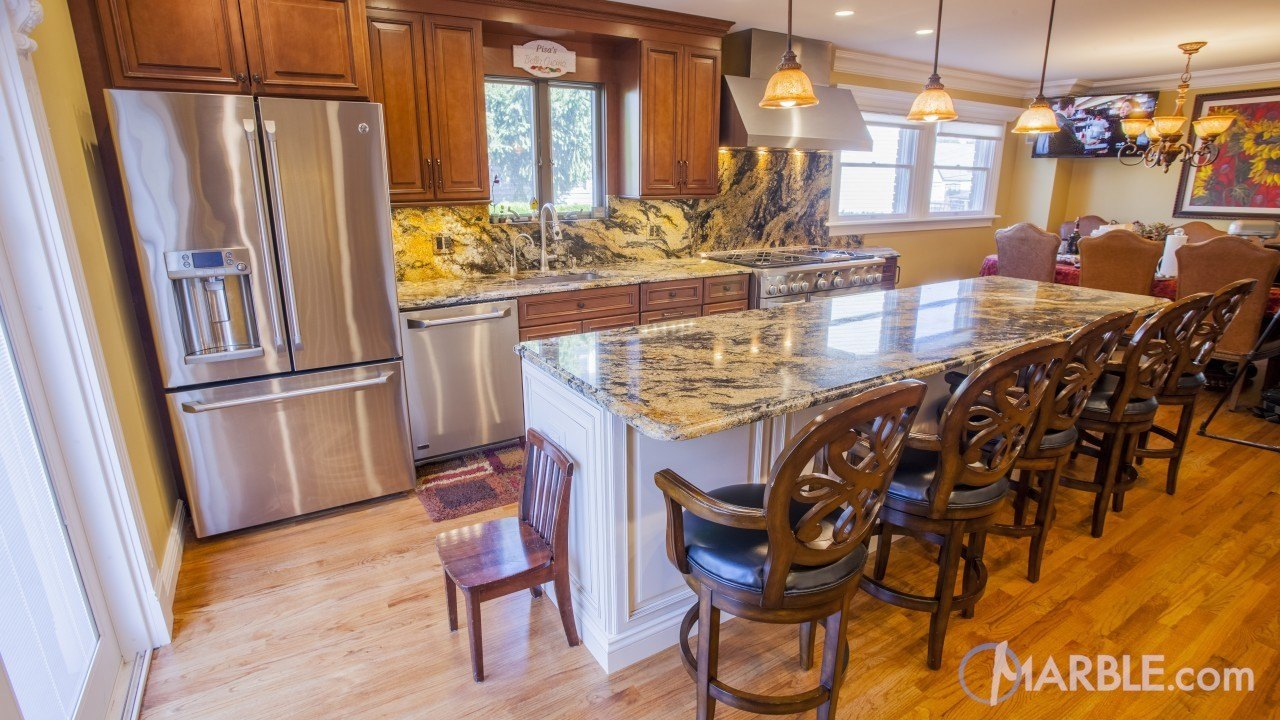 Magma Gold Kitchen Granite Countertops