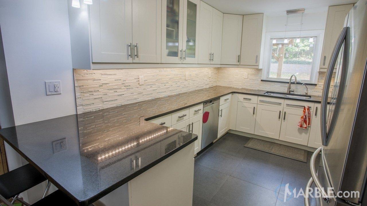 Black Galaxy Granite Kitchen Countertop | Marble.com