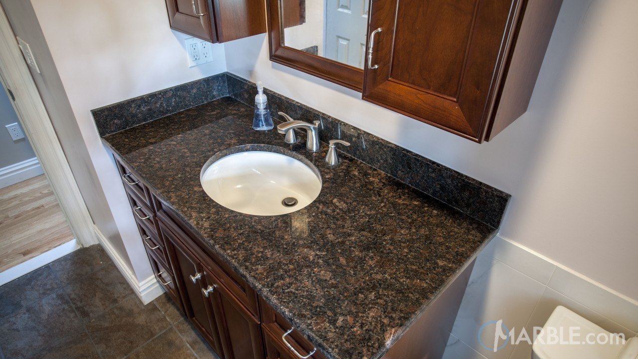 Tan Brown Granite Bathroom | Marble.com