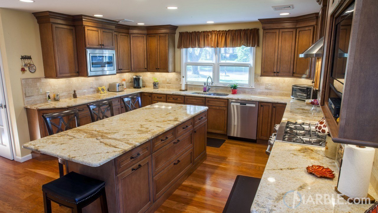 Giallo Sevilla Kitchen Granite Countertop | Marble.com
