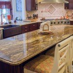 Black Thunder and Giallo Napole Granite Kitchen Countertops | Marble.com