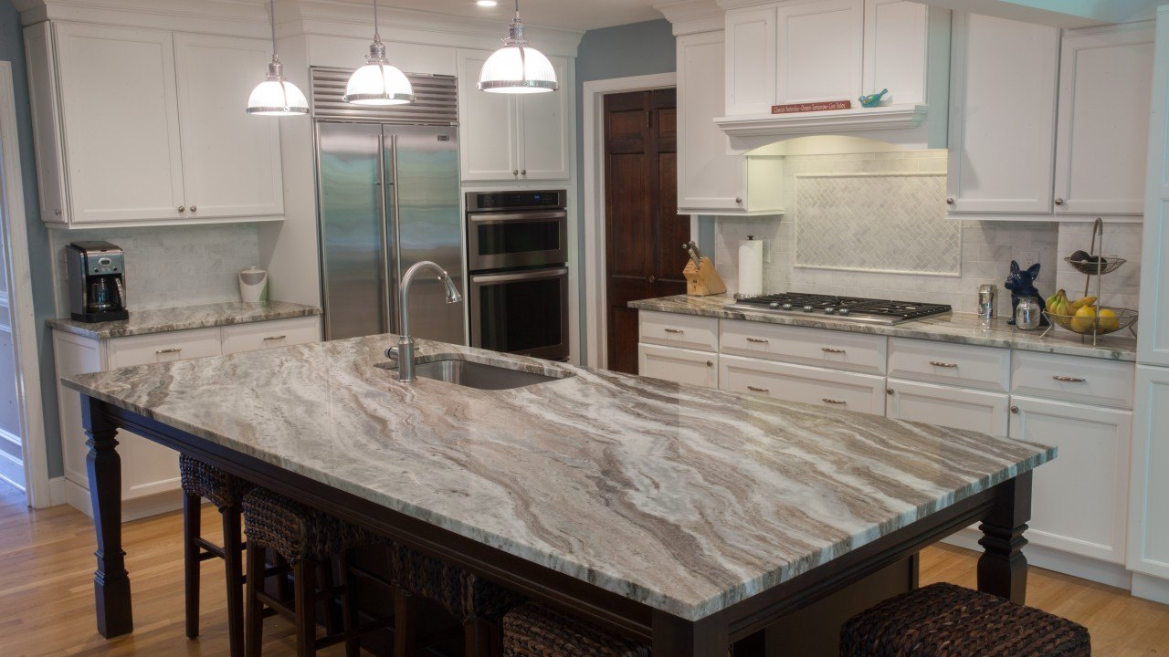 Fantasy Brown Quartzite Modern Kitchen